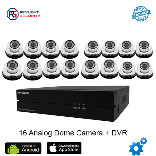 16 Dome Camera DVR Security System - Revlight Security