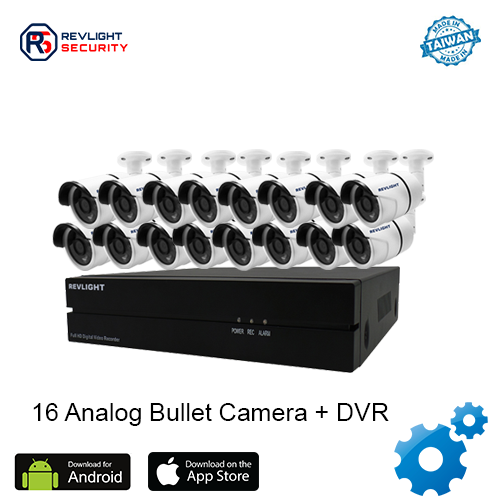 16 Bullet Camera DVR Security System