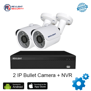 2 Bullet Camera NVR Security System - Revlight Security