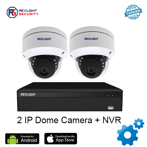 2 Dome Camera NVR Security System - Revlight Security