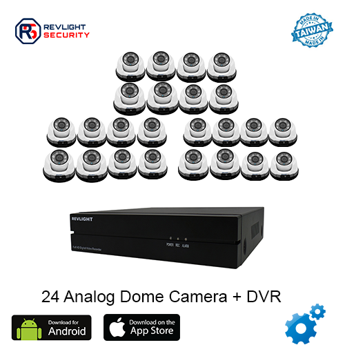 24 Dome Camera DVR Security System - Revlight Security