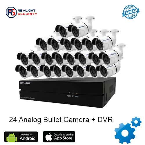 24 Bullet Camera DVR Security System - Revlight Security