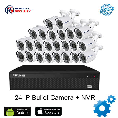 24 Bullet Camera NVR Security System - Revlight Security