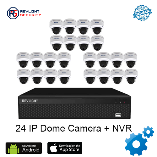 24 Dome Camera NVR Security System