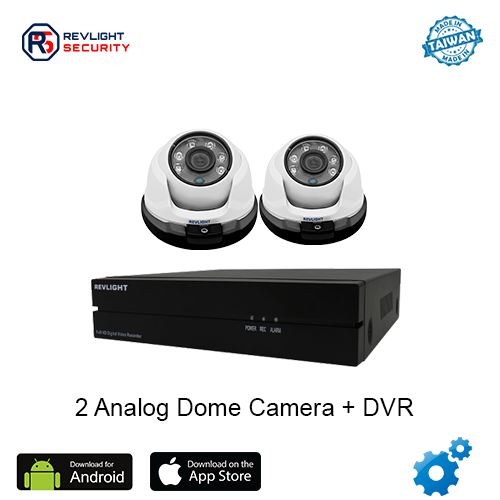 2 Dome Camera DVR Security System - Revlight Security