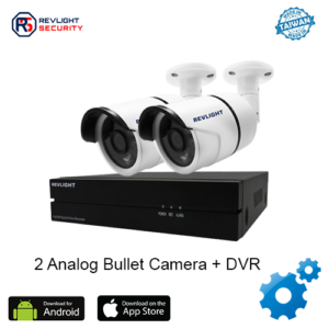 2 Bullet Camera DVR Security System - Revlight Security