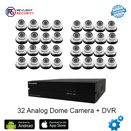 32 Dome Camera DVR Security System - Revlight Security