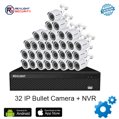 32 Bullet Camera NVR Security System - Revlight Security