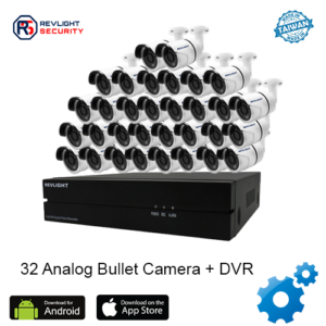 32 Bullet Camera DVR Security System - Revlight Security