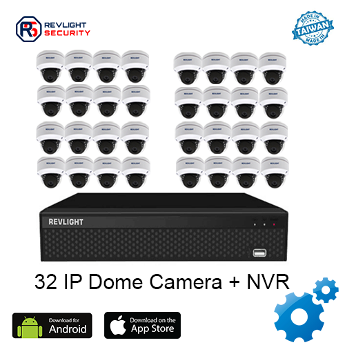 32 Dome Camera NVR Security System - Revlight Security