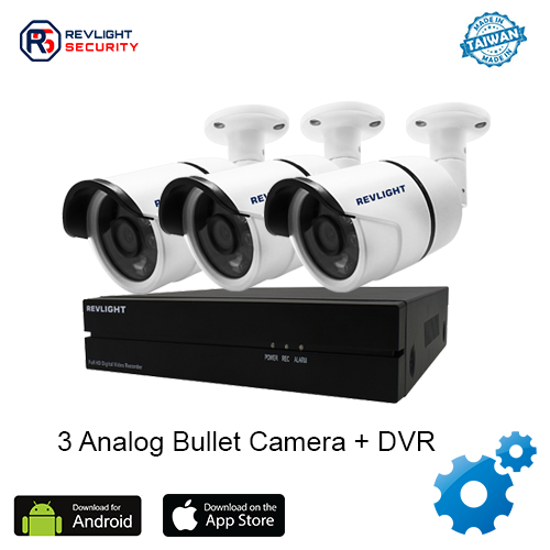3 Bullet Camera DVR Security System