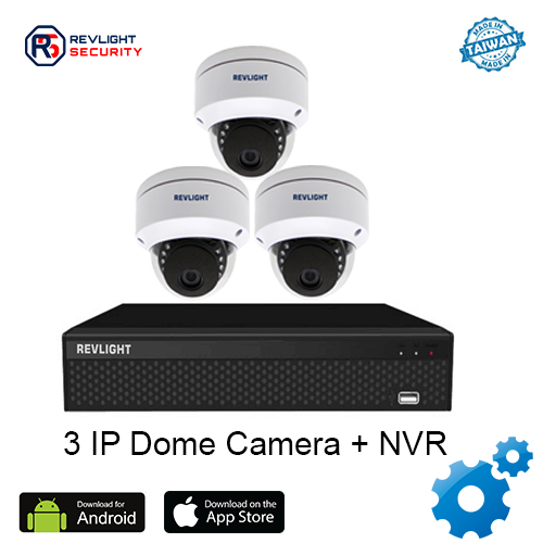 3 Dome Camera NVR Security System