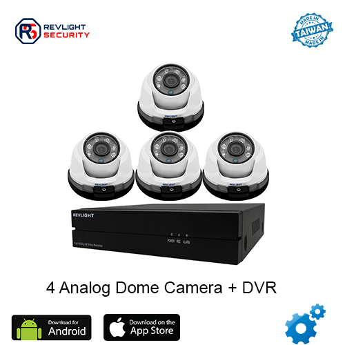 4 Dome Camera DVR Security System - Revlight Security