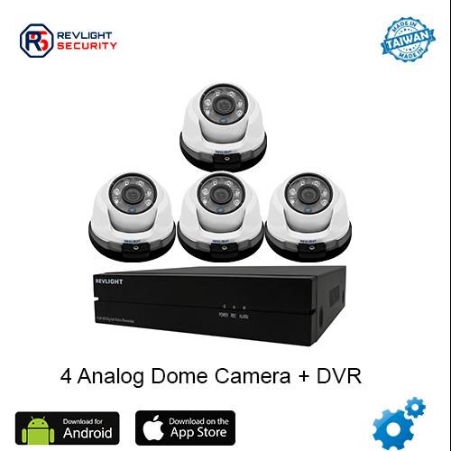 4 Dome Camera DVR Security System