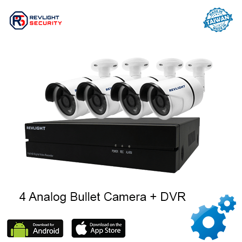 4 Bullet Camera DVR Security System - Revlight Security