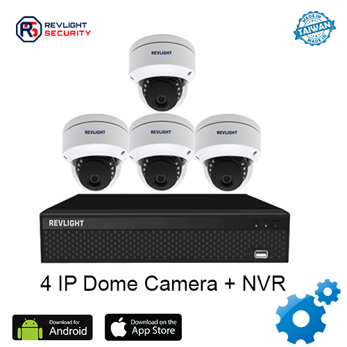 4 Dome Camera NVR Security System