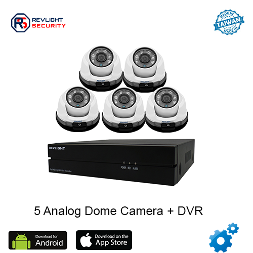 5 Dome Camera DVR Security System - Revlight Security