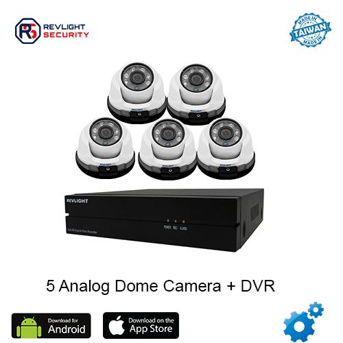 5 Dome Camera DVR Security System