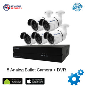 5 Bullet Camera DVR Security System - Revlight Security