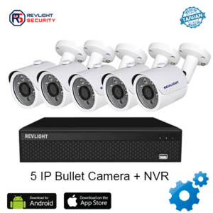5 Bullet Camera NVR Security System - Revlight Security