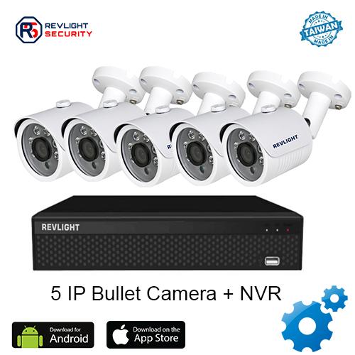 5 Bullet Camera NVR Security System