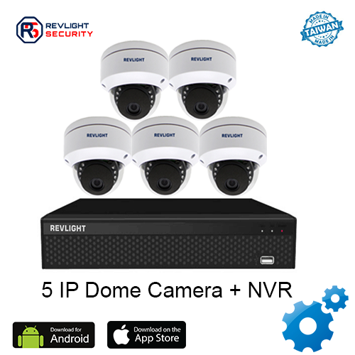 5 Dome Camera NVR Security System - Revlight Security