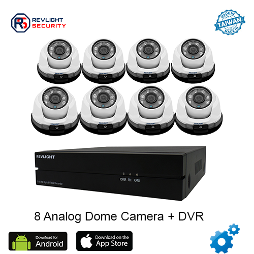 8 Dome Camera DVR Security System - Revlight Security