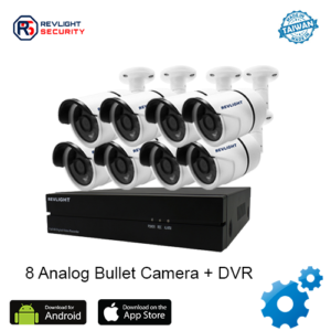 8 Bullet Camera DVR Security System - Revlight Security