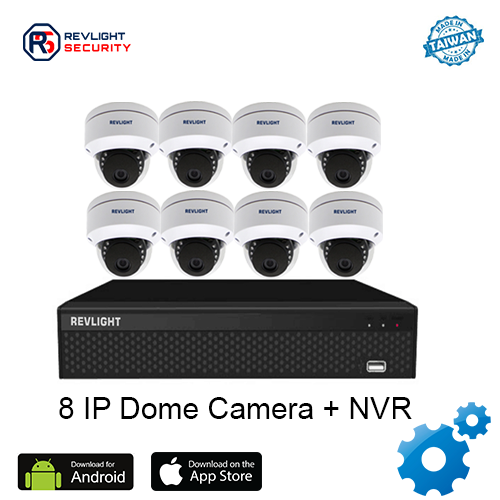 8 Dome Camera NVR Security System - Revlight Security