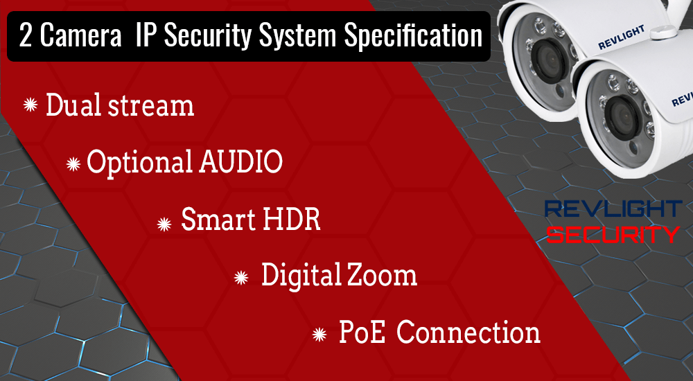 2 CAMERA IP SECURITY SYSTEM SPECIFICATION